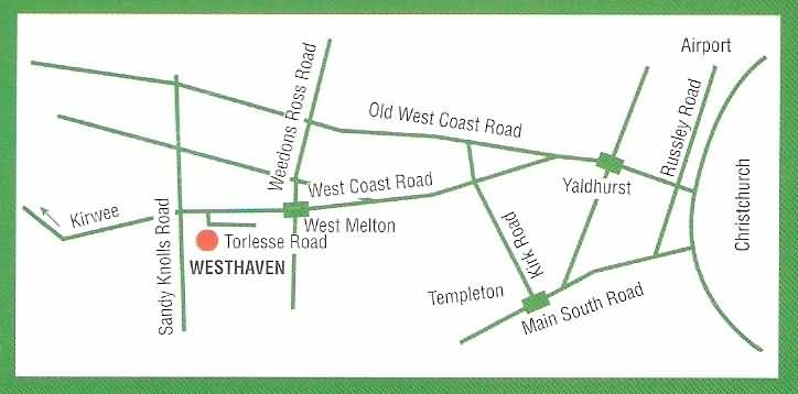 West haven Gardens location map